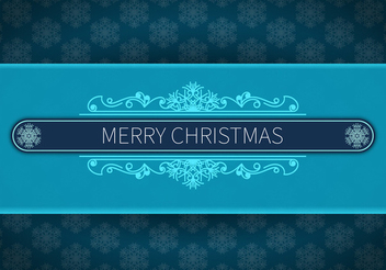 Snowflake Background Christmas Card - vector gratuit #338859