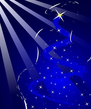 Blue Christmas Background - Kostenloses vector #338919