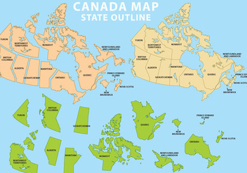 State Outline Canada - Free vector #339329