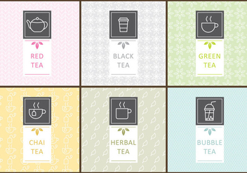 Tea Labels - vector #339409 gratis