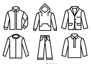 Clothes Outline Icons - vector #339469 gratis