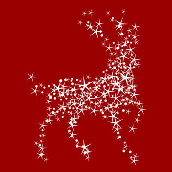 Magic christmas reindeer 2 - Free vector #339549
