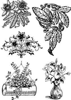 Vintage floral decorations - Kostenloses vector #339669