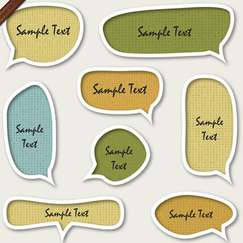 Speech Bubbles - Free vector #339919