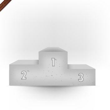 3d Vector Stone Podium - Free vector #339939