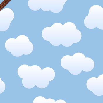 Seamless Vector Clouds Background - vector gratuit #340009