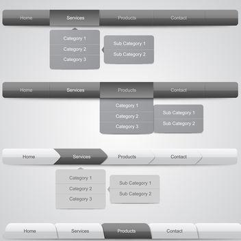 Web Navigation Menus - Free vector #340309