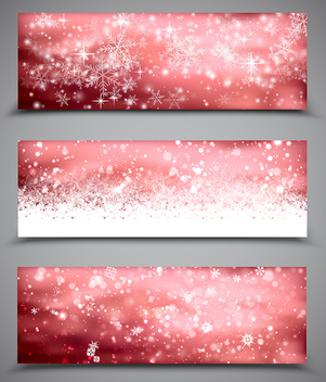 Christmas Banners Set - vector gratuit #340449