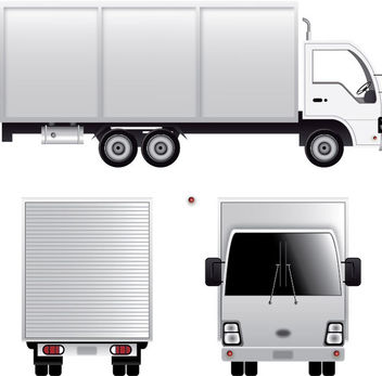 Cargo Van - Free vector #340459