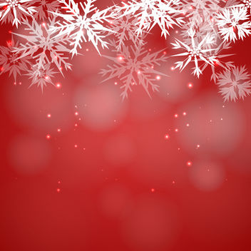 Red Snowflake Background - vector #340469 gratis