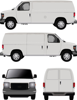 White Vector Van - бесплатный vector #340819