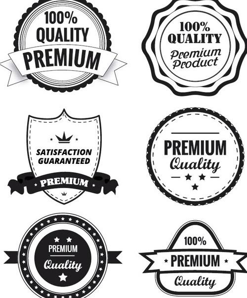 Premium Quality Labels - Kostenloses vector #340849