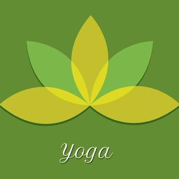 Minimal Yoga Flower with Transparent Leaves - vector gratuit #340939