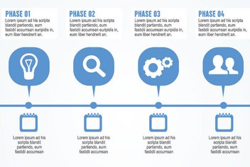 Business Process Infographic - vector gratuit #340999