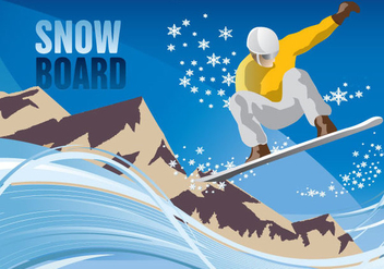 Snowboard Mountain - vector gratuit #341039