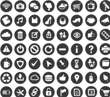 Minimal Business Icons - vector gratuit #341159