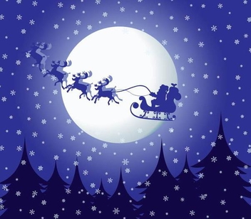 Santa Claus Flying Christmas Background - vector gratuit #341209