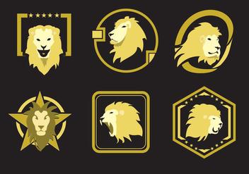 Lion Head Emblems - Free vector #341389