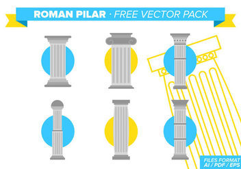 Roman Pilar Free Vector Pack - Free vector #341599