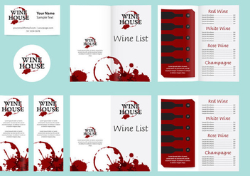 Templates And Wine List - Kostenloses vector #341749