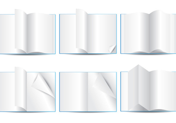 Blank Page Flip - Free vector #341789