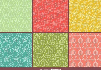 Christmas Vector Patterns - Free vector #341799