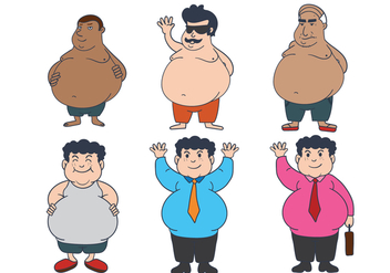 Fat Guy Vector - Free vector #341889