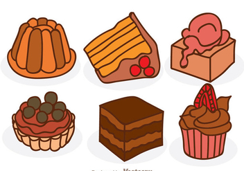 Cartoon Chocolate Cake - Free vector #342289