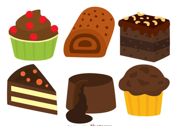Delicious Chocolate Cake - Free vector #342299