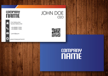 Vector abstract creative business cards - Free vector #342319