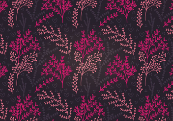 Moody Botanical Vector Seamless Pattern - vector gratuit #342389