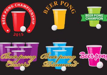 Beer Pong Logos - vector #342669 gratis