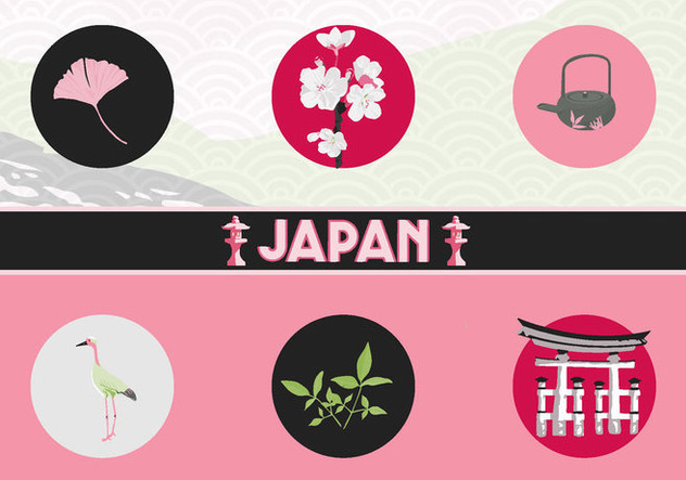 Japan Vector Icons - Kostenloses vector #342699