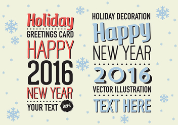 Free Merry Christmas Vector Background with Typography - vector gratuit #342709
