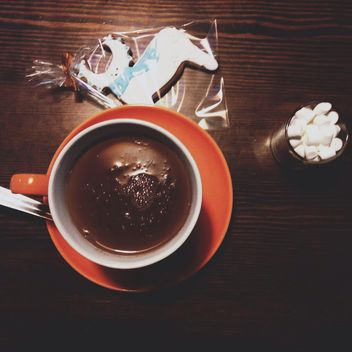 cocoa with marshmallow and cookies - image gratuit #342919