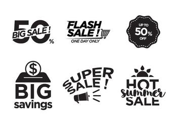 Vector Sale Symbols - Kostenloses vector #343209