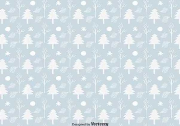 Christmas Tree Seamless Pattern - Free vector #343269