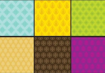 Thai Textures - vector gratuit #343339