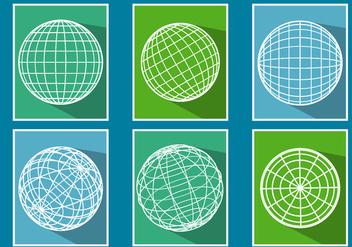Globe Grid Vectors - Free vector #343699