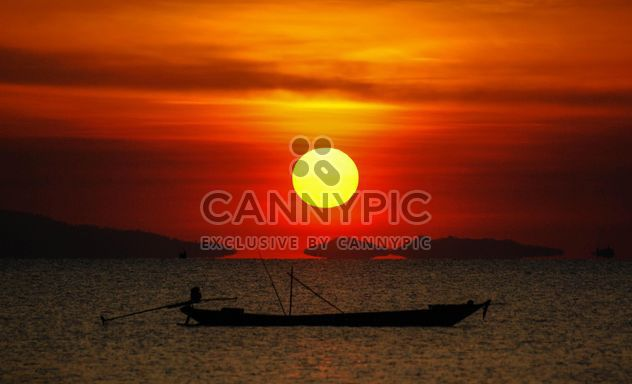 Dark orange sunset - Free image #344119