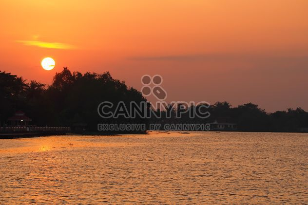 Landscape with sunset over river - Free image #344579