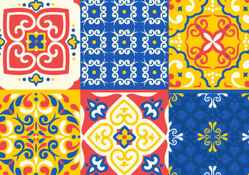 Azulejo Tile Vectors - Kostenloses vector #344729