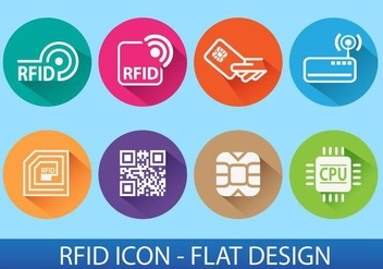 RFID ICON - vector gratuit #344819