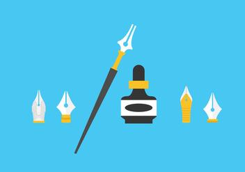 Pen Nib Vectors - Free vector #344909
