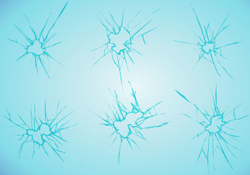 Cracked Glass Vector Set - бесплатный vector #344959