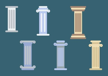 Roman Pillars Illustrations - vector gratuit #345329