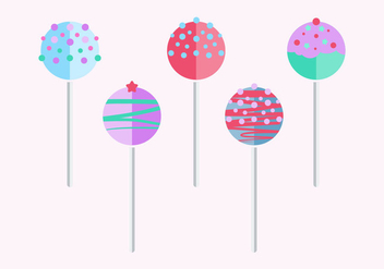 Flat Style Cake Pops - Kostenloses vector #345399
