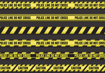 Vector Set of Police Lines - vector gratuit #345529