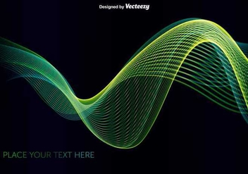 Abstract green/blue wave - vector gratuit #345549