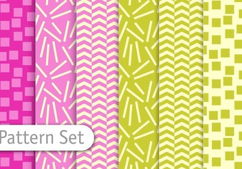 Decorative Colorful Pattern Set - бесплатный vector #345559